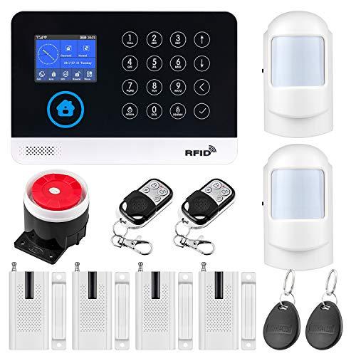 Fuers WG11 WiFi/gsm Sistema de Alarma para Casa Control por App/SMS Kit de Sistema de Alarma para el Hogar DIY con Tarjeta RFID, Marcación Automática SIM, Comunicación Bidireccional