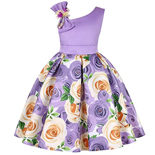 DQANIU  Kinderkleidung, Floral Baby Girl Princess Brautjungfer Pageant Kleid Geburtstag Party Hochzeitskleid