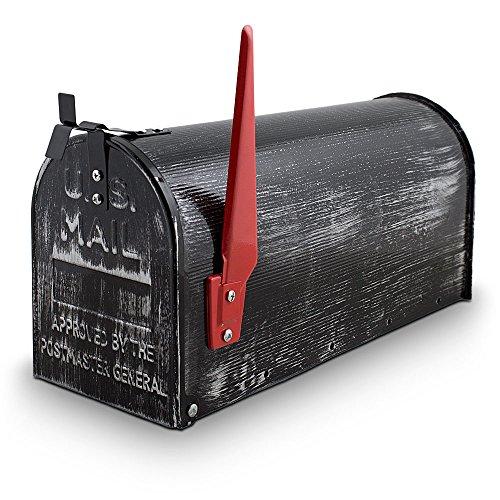 US Mailbox Amerikanischer Briefkasten Standbriefkasten Wandbriefkasten Letterbox Retrolook Inclusive Wandhalter - 2