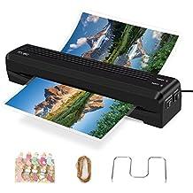 Plastificadora TOQIBO Laminadora Plastificadora A3 A4 con 2 Rodillos de 250mm / min Rápido Calentamiento de Laminado, 340mm A3 de Ancho Máximo para Documentos / Fotos / Tarjetas de Mano [+10 Clip de La Foto]
