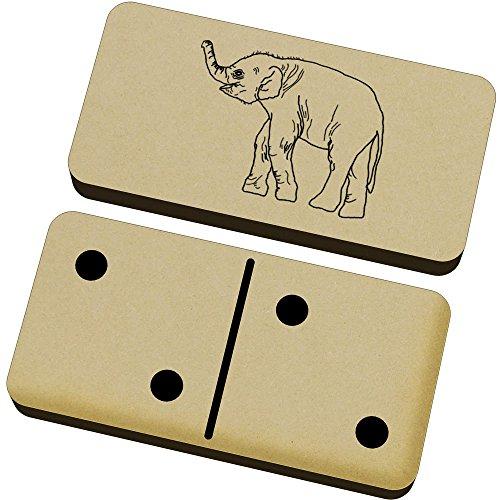 Azeeda 'Bebé Elefante' Domino Juego y Caja (DM00015998)