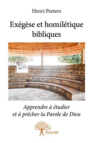 Exegese et Homiletique Bibliques