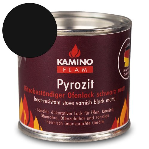 Preisvergleich Produktbild Ofenlack - Ofenfarbe - Thermolack mit Farbauswahl (schwarz matt 125g)