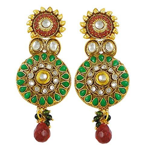 concepteur boucles d'oreilles roses indien traditionnel de mariée bijoux boucles d'oreilles de cadeaux pour elle rose-5