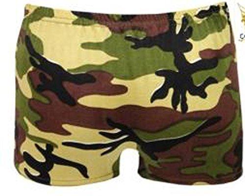 Stretch pour femme Uni-Short Short Sexy style fête Danse Taille 36–42 Vert - Militaire