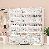 PREMAG Portable Shoe Storage Organizer Tower, Weiß mit transparenten Türen, Modular Cabinet Regale für platzsparende, Schuhregal Regale für Schuhe, Stiefel, Hausschuhe 3 * 7