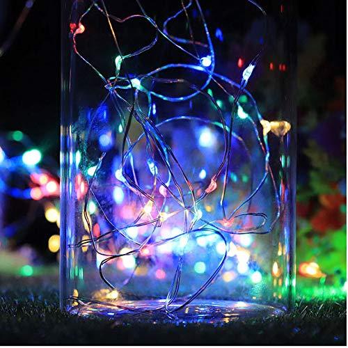 Tefamore 3PC 2M 20LED Corcho Solar Botella de Vino Tapón Alambre de Cobre Cadena Luces Lámparas de Hadas (Multicolor)