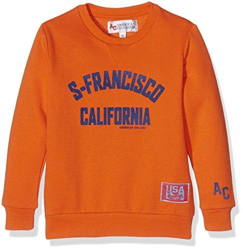 American College Jdelight, Felpa Bambino, Arancione, 12 Anni