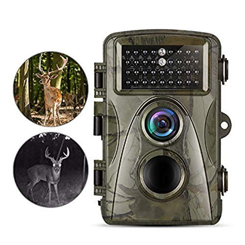 MC.PIG Wildkamera Jagdkamera Nachlaufkamera 1920x1080P Videoaufnahme Jagdspiel Cam 0,35s Auslösezeit 940nm Nachtsicht Wildlife Monitor