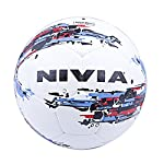 The Nivia Storm football offers optimum response and feel to a beginner. The outer rubber shell makes it absolutely durable and resistant to abrasive surface. The ball can be used for recreation play like weekend matches and friendly matches. The dur...