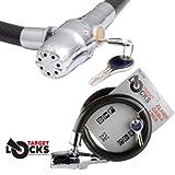 Target TL112alarmgesichertes Kabelschloss,Spiralschloss mit Alarm(110 dB), fürMotorräder, Fahrräder, Roller, Gartentore, zur Befestigung des Helms am Motorrad