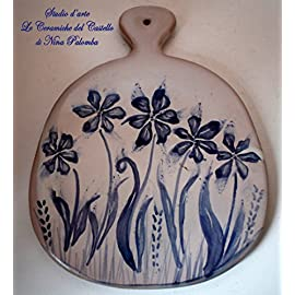 Sole da muro in terracotta Ceramica Handmade Le Ceramiche del Castello Made in Italy Dimensioni 13 x 13 centimetri