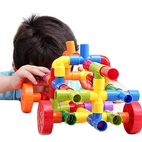 Edealing (TM) 72 Pcs Tube en plastique Waterpipe Pipeline Construction Building Blocks Imaginations pour enfants Enfants