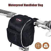 Bicycle Handlebar Bag, LC-dolida Basket Bike Bag with Rainproof Cover for Cycling