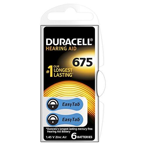 Duracell EasyTab Typ 675 Hörgerätebatterien, 6er Pack