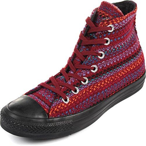 Converse - Frauen Chuck Taylor All Star Textile Hallo Schuhe, EUR: 38.5, Oxheart/Larkspur/Black (Oxheart Converse)