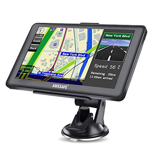 GPS Navigationssystem mit Bluetooth 17,8 cm (7 Zoll) HD-Touchscreen, Auto-Navigationssystem, integrierter 8 GB und 256 MB, UK- und EU-Karten, lebenslange kostenlose Updates Integriertes Navigationssystem