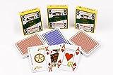 Poker Calidad Pack 3 barajas de cartas 100% plástico, impermeables, larga duración