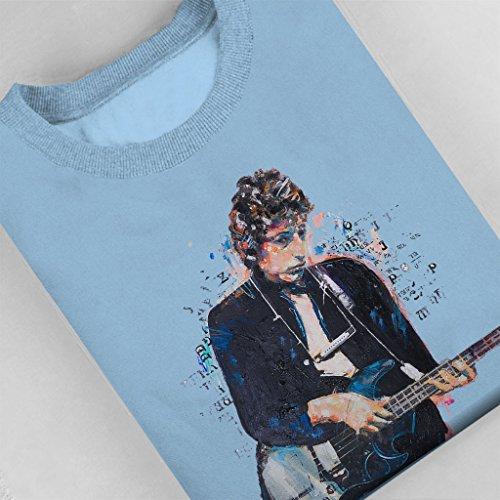 Sidney Maurer Bob Dylan On Bass Official Women's Sweatshirt Sky Blue