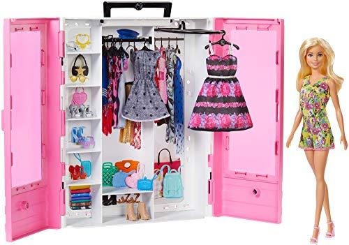 Barbie GBK12 - Traum Kleiderschrank und Puppe, Puppenzubehör Spielzeug ab 3 Jahren