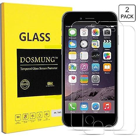iPhone 6 6S Panzerglas Schutzfolie-DOSMUNG Panzerglasfolie iPhone 6 6s, 2