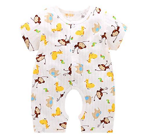 Aoweika Unisex Kleinkind Baby Toddler Schlafstrampler Baumwolle Pyjamas Cartoon Einfarbig Overalls Outfits Baby Neugeborenes Kinderkleidung mit 0-12 Monate