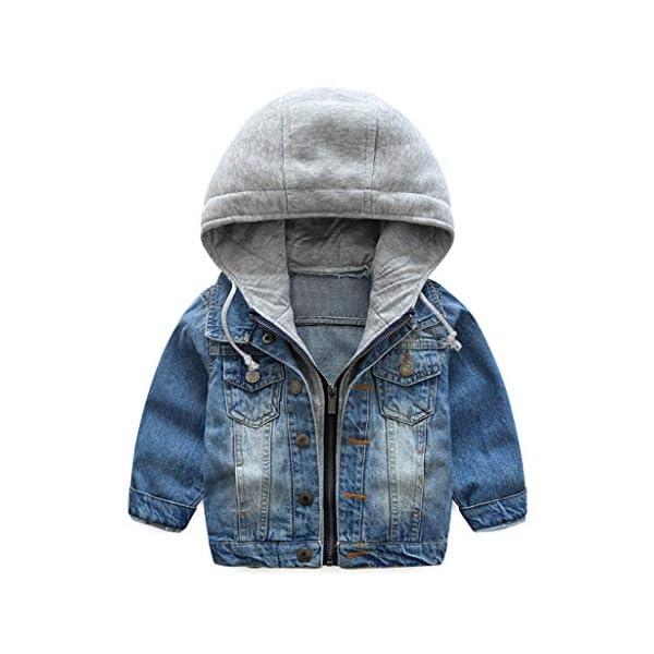Niño Capucha Chaqueta Vaquera Abrigo Bebé Cazadora Vaquera Niñas Denim Jacket Manga Larga Mezclilla Jacke Trajes De… 1