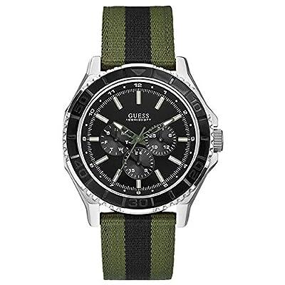 GUESS Reloj Analógico para Hombre de Cuarzo con Correa en Nailon W0491G1