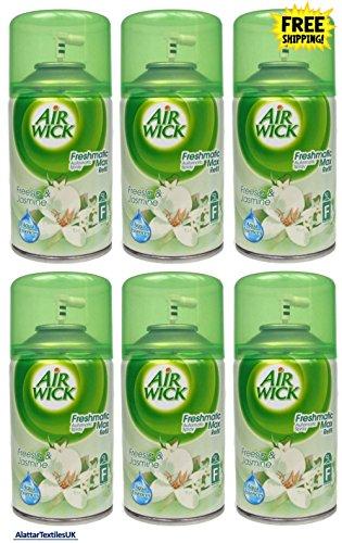 Airwick Freshmatic Lot de 6 recharges pour diffuseur Parfum freesia et jasmin