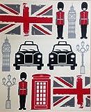 Aspekt 120x 170cm Polypropylen Retro Union Jack und London Eigenschaften Teppich, Mehrfarbig