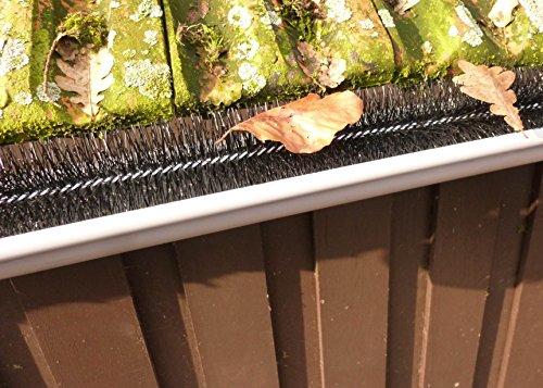 1,2m Dachrinnenbürste Dachrinnenraupe Dachrinnenigel Regenrinne Laubschutz Blätter Schutz Marder Dachrinne Bürste Ø 8 cm