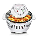 Large Digital Halogen Convection Oven Cooker 12L with Lid Air Fryer Accessories Glass