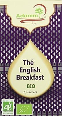 Moulin des Moines Thé Noir English Breakfast Bio 30 g - Lot de 4