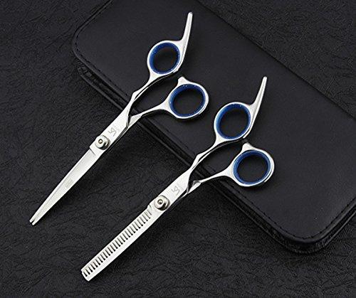 ATAYOU® 6 Zoll Professionelle Hair Styling Schere Kit für Familie und Barber Hair Styling mit Haar Schneidescheren Effilierschere und Kamm.
