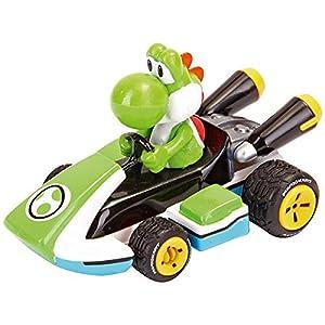 Mario Kart Nintendo Figura Pull Speed Yoshi, Multicolor (Carrera 9003150193173)