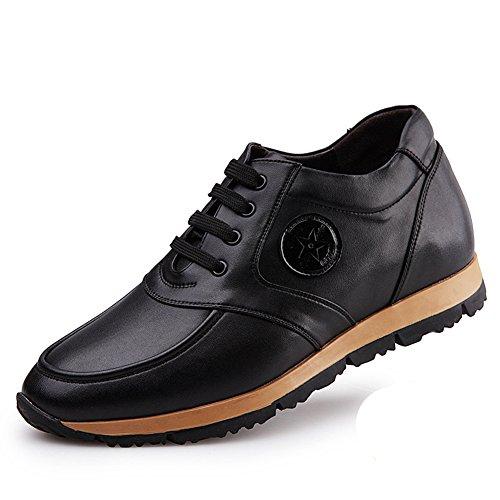 Chukka Basket mode chaussure de ville soulier sportif cuir tendance western escarpin haute rond bout neuve homme Noir