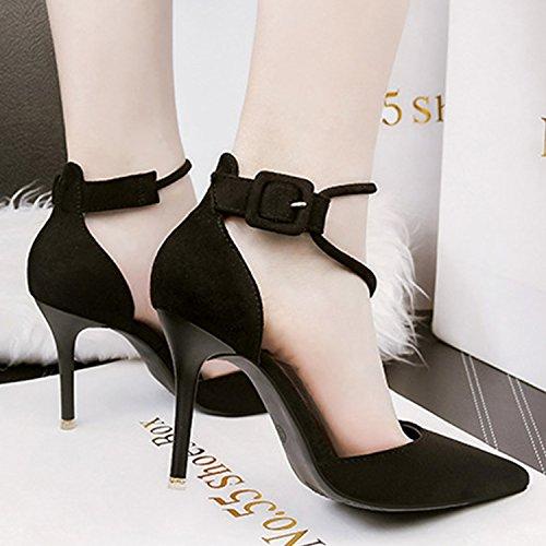 Oasap Women's Pointed Toe High Heels Club Pumps Black