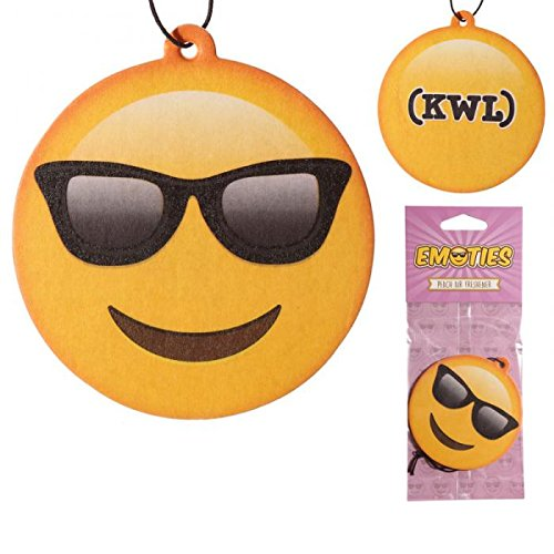 STOCK 5 PEZZI Deodorante per Auto Emoticon Emoji Occhiali da sole PESCA