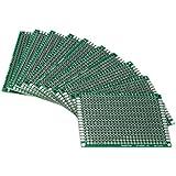 SODIAL(R) 10pcs Tablero lateral doble 5x7cm PCB Gaza circuito impreso Prototype Track