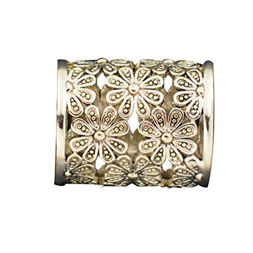 Schal-Ringe-Rosen-Gold überzogene Weinlese-Klipps-Dias-Klammern-Pflaume-Blumen-Antike-Schmucksachen für Frauen