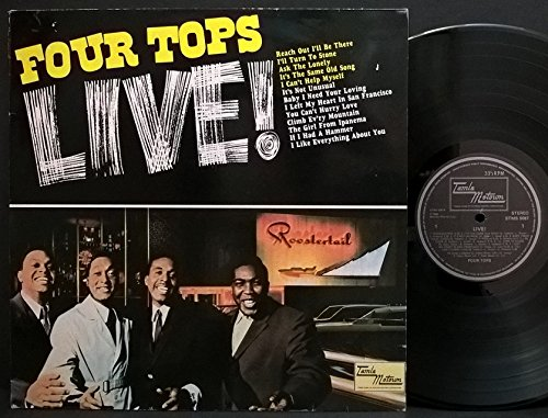FOUR TOPS LP, LIVE (US ISSUE EX/EX VINYL) - Tops-live Four