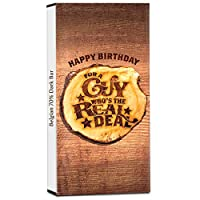 Chocholik Birthday Day Gift – You were Born to Party 70% Dark Belgium Chocolate Bar - 100gm (3.5Oz)