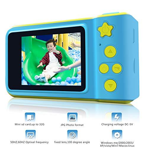 Cámara Digital para niños HD 1080P con Tarjeta TF Gratuita Cámara para niños con cámara de Juguete con Pantalla de 2,0 Pulgadas para niños, niñas Regalos de cumpleaños Aprenda cámara de Deportes