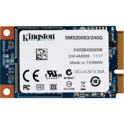 Kingston SMS200S3/240G interne SSD 240GB (6,4 cm (2,5 Zoll), mSATA) schwarz