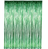 Green Fringe Foil Curtain Decoration 36 ...