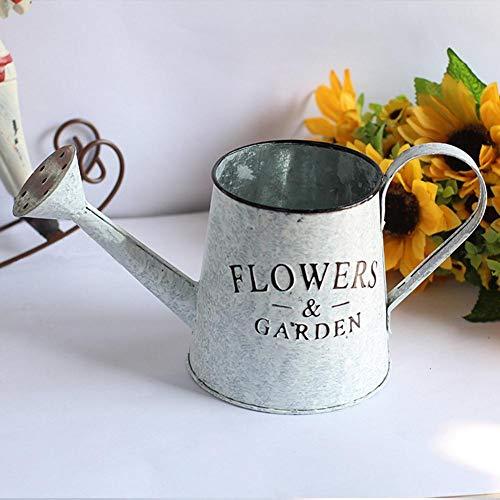 Vase, Vintage-Stil, Shabby Chic, für Dekoration und Hochzeit, grau, B