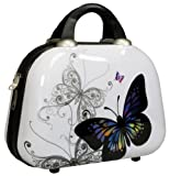Beautycase / Schminkkoffer Butterfly mt Schminkspiegel - Polycarbonat Hartschalen