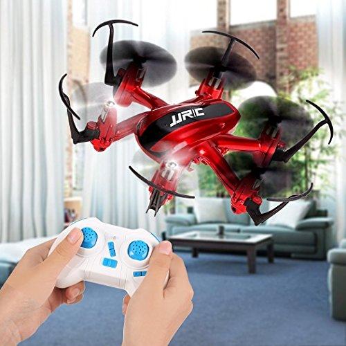 JJRC H20 RC Drone Quadrocopter 2.4GHz mit 4 Kanal, 6 Achsen Gyro, 3D-Flip,kopflos - modus (Rot) - 2