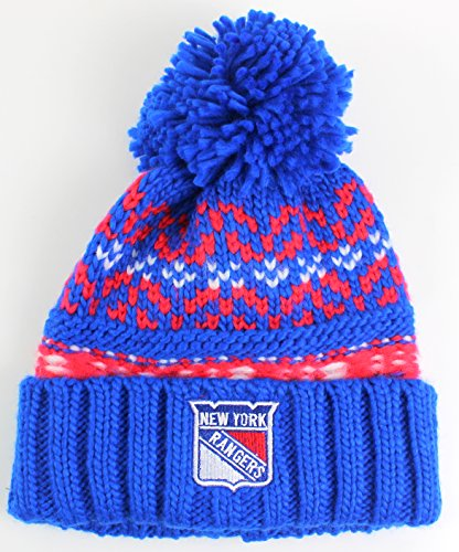 NHL American Nadel Gusto Cuffed Pom Beanie Knit Hat, Herren, Navy, One Size Fits Most