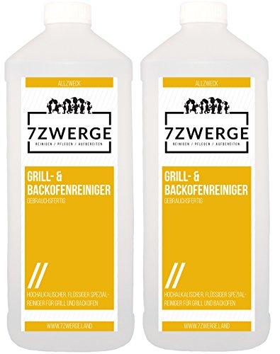 7Zwerge Grill- und Backofenreiniger 2x 1000ml 2 Liter inkl. Sprühkopf Sprayer